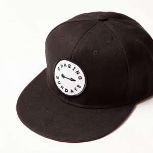 Arrow Full Panel Black Snap Back