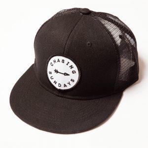 Arrow Black Mesh Snap Back Hat