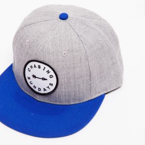 Grey and Blue SnapBack Hat