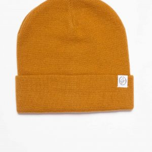 Rust Beanie turned up