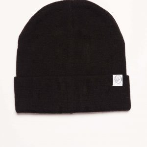 Black Beanie turned up