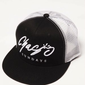 Black and White Mesh Hat